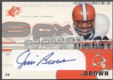 2002 SPx #SSJB Jim Brown Supreme Signatures Auto