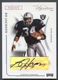 2004 Playoff Prime Signatures #71 Bo Jackson Signature Proofs Silver Auto #27/34