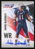 2012 Upper Deck USA Football Autographs #3 Andre McDonald Autograph