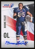 2012 Upper Deck USA Football Autographs #4 Boone Feldt Autograph