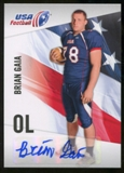 2012 Upper Deck USA Football Autographs #6 Brian Gaia Autograph