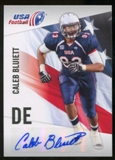 2012 Upper Deck USA Football Autographs #7 Caleb Bluiett Autograph