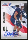 2012 Upper Deck USA Football Autographs #8 Caleb Stacey Autograph