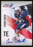 2012 Upper Deck USA Football Autographs #9 Canon Smith Autograph