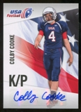 2012 Upper Deck USA Football Autographs #11 Colby Cooke Autograph