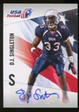 2012 Upper Deck USA Football Autographs #13 D.J. Singleton Autograph