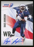 2012 Upper Deck USA Football Autographs #14 Daje Johnson Autograph
