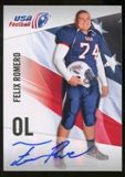2012 Upper Deck USA Football Autographs #16 Felix Romero Autograph