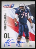 2012 Upper Deck USA Football Autographs #18 Freddie Tagaloa Autograph