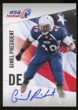 2012 Upper Deck USA Football Autographs #19 Gimel President Autograph