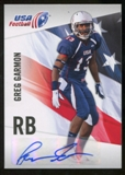 2012 Upper Deck USA Football Autographs #20 Greg Garmon Autograph