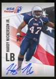 2012 Upper Deck USA Football Autographs #21 Hardy Nickerson Jr. Autograph