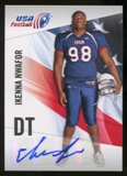 2012 Upper Deck USA Football Autographs #24 Ikenna Nwafor Autograph