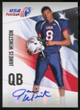 2012 Upper Deck USA Football Autographs #26 Jameis Winston Autograph