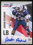 2012 Upper Deck USA Football Autographs #33 Jordan Richmond Autograph