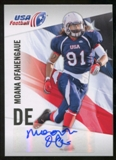 2012 Upper Deck USA Football Autographs #35 Moana Ofahengaue Autograph