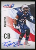 2012 Upper Deck USA Football Autographs #41 Ryan Reid Autograph