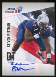 2012 Upper Deck USA Football Autographs #43 Se'Von Pittman Autograph