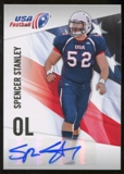 2012 Upper Deck USA Football Autographs #44 Spencer Stanley Autograph