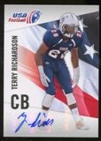 2012 Upper Deck USA Football Autographs #45 Terry Richardson Autograph