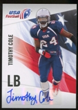 2012 Upper Deck USA Football Autographs #46 Timothy Cole Autograph
