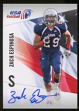 2012 Upper Deck USA Football Autographs #49 Zach Espinosa Autograph
