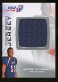 2012 Upper Deck USA Football Future Swatch #FS3 Andre McDonald