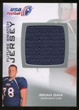 2012 Upper Deck USA Football Future Swatch #FS6 Brian Gaia