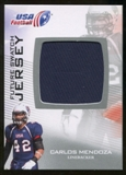 2012 Upper Deck USA Football Future Swatch #FS10 Carlos Mendoza
