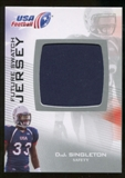 2012 Upper Deck USA Football Future Swatch #FS13 D.J. Singleton