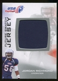 2012 Upper Deck USA Football Future Swatch #FS33 Jordan Richmond