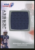 2012 Upper Deck USA Football Future Swatch #FS38 Romond Deloatch