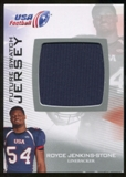 2012 Upper Deck USA Football Future Swatch #FS40 Royce Jenkins-Stone