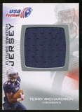 2012 Upper Deck USA Football Future Swatch #FS45 Terry Richardson