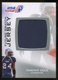2012 Upper Deck USA Football Future Swatch #FS46 Timothy Cole
