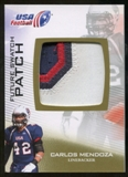 2012 Upper Deck USA Football Future Swatch Patch #FS10 Carlos Mendoza
