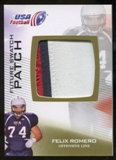 2012 Upper Deck USA Football Future Swatch Patch #FS16 Felix Romero