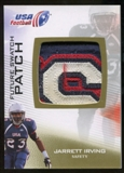 2012 Upper Deck USA Football Future Swatch Patch #FS28 Jarrett Irving
