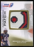 2012 Upper Deck USA Football Future Swatch Patch #FS38 Romond Deloatch