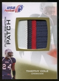 2012 Upper Deck USA Football Future Swatch Patch #FS46 Timothy Cole