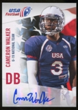 2012 Upper Deck USA Football U-19 National Team Autographs #U192 Cameron Walker Autograph