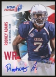 2012 Upper Deck USA Football U-19 National Team Autographs #U193 Rodney Adams Autograph