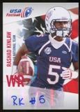 2012 Upper Deck USA Football U-19 National Team Autographs #U198 Rashad Kinlaw Autograph