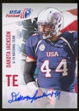 2012 Upper Deck USA Football U-19 National Team Autographs #U199 Dakota Jackson Autograph