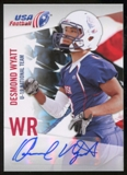 2012 Upper Deck USA Football U-19 National Team Autographs #U1910 Desmond Wyatt Autograph