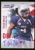 2012 Upper Deck USA Football U-19 National Team Autographs #U1924 Tyler Willis Autograph