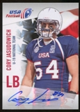2012 Upper Deck USA Football U-19 National Team Autographs #U1925 Cory Jasudowich Autograph