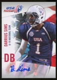 2012 Upper Deck USA Football U-19 National Team Autographs #U1926 Darrius Sims Autograph