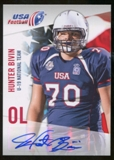 2012 Upper Deck USA Football U-19 National Team Autographs #U1927 Hunter Bivin Autograph