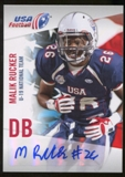 2012 Upper Deck USA Football U-19 National Team Autographs #U1937 Malik Rucker Autograph